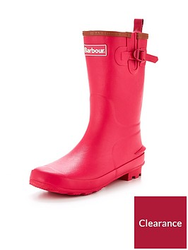 barbour-girls-pink-wellington-boot