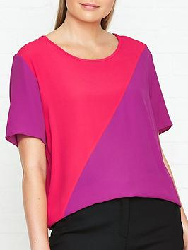 ps-paul-smith-silk-colour-block-top-pinkred