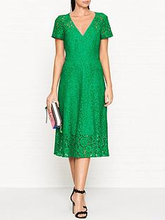 ps-paul-smith-short-sleeve-v-neck-lace-dressnbsp-nbspgreen