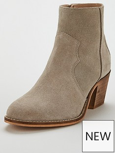 97c1b4c5950b V by Very Finsbury Real Suede Mid Ankle Boot - Taupe