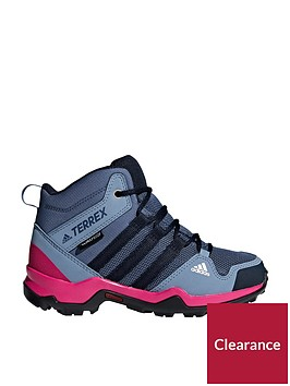 adidas-terrex-ax2r-mid-childrensnbsptrainers-bluepink