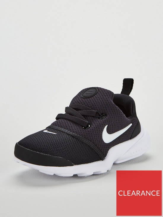 new style 945c2 8de51 Nike Presto Fly Infant Trainers - Black White   very.co.uk