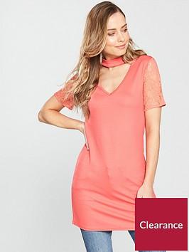 v-by-very-choker-lace-sleeve-longline-top