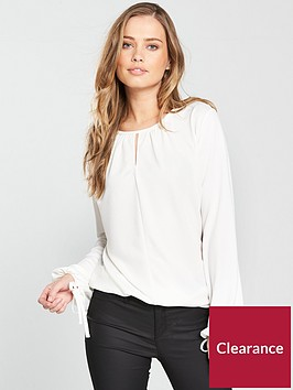v-by-very-peek-a-boo-tie-sleeves-blouse-white