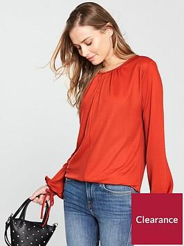v-by-very-tie-sleeve-top-rednbsp
