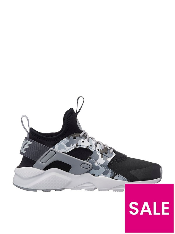 picked up new arrive good out x Air Huarache Run Ultra Printed Junior Trainers - Black/Grey