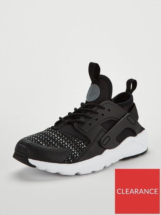 6698c4c09f0d Nike Huarache Run Ultra Se Childrens Trainer - Black White