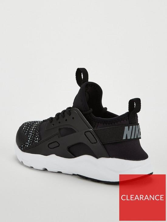 ed36a4d6af16 Nike Huarache Run Ultra Se Childrens Trainer - Black White