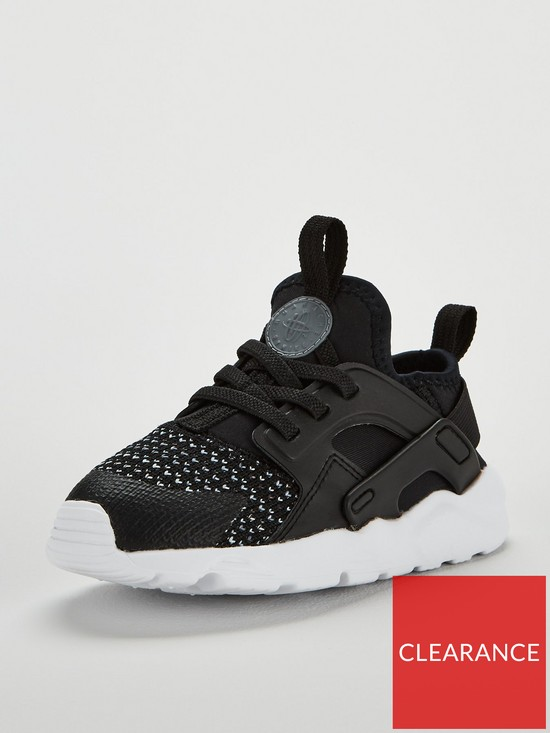 d5cea4607d1d Nike Huarache Run Ultra SE Infant Trainers - Black Grey