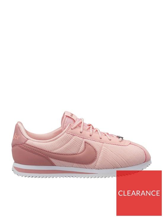 brand new f93d9 6ceea Nike Cortez Basic TXT SE Junior Trainers - Pink