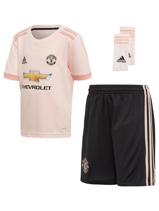 84ee013ff adidas Manchester United Infant 18 19 Away Mini Kit - Pink