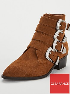 v-by-very-florence-real-suede-western-buckle-strap-ankle-boot-tan