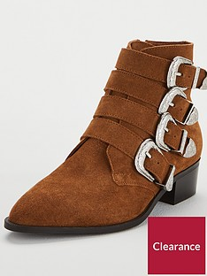 v-by-very-wide-fit-florence-real-suede-western-buckle-strap-ankle-boot-tan