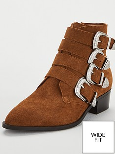 v-by-very-wide-fit-florence-real-suede-western-buckle-strap-ankle-boot