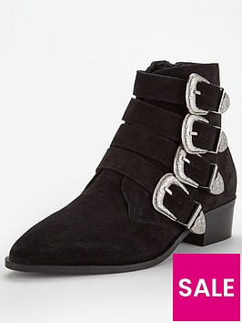 v-by-very-florence-real-suede-western-buckle-strap-ankle-boot--tan