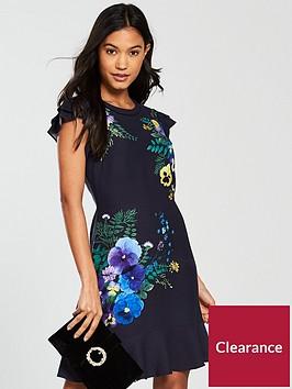 oasis-pressed-flower-skater-dress