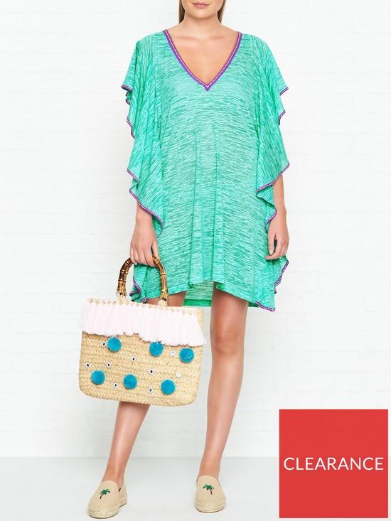 96c0161ef8a PITUSA Flare V Neck Mini Dress - Mint