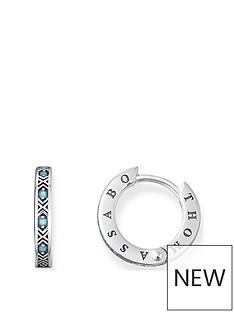 thomas-sabo-thomas-sabo-sterling-silver-turquoise-set-branded-small-hoop-earrings