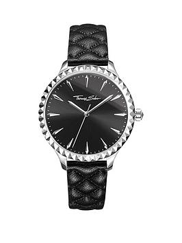 thomas-sabo-rebel-at-heart-pyramid-studs-black-leather-strap-ladies-watch