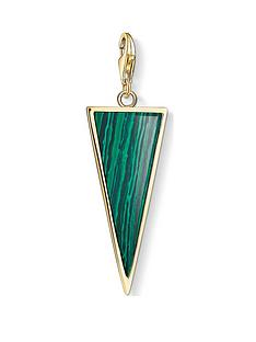 thomas-sabo-thomas-sabo-18k-gold-plated-sterling-silver-malachite-triangle-charm