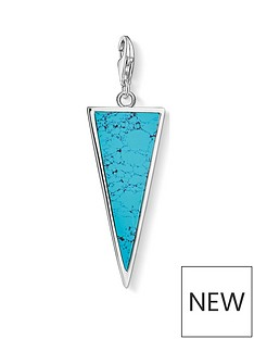 thomas-sabo-thomas-sabo-18k-gold-plated-sterling-silver-turquoise-triangle-charm