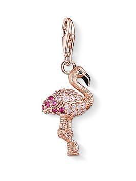 thomas-sabo-thomas-sabo-rose-18k-gold-plate-sterling-silver-cubic-zirconia-set-flamingo-charm