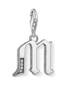 thomas-sabo-thomas-sabo-sterling-silver-cubic-zirconia-set-letter-m-charm