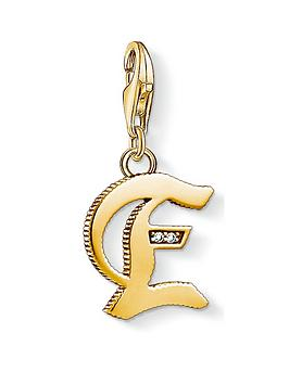thomas-sabo-thomas-sabo-18k-gold-plate-sterling-silver-cubic-zirconia-set-letter-e-charm