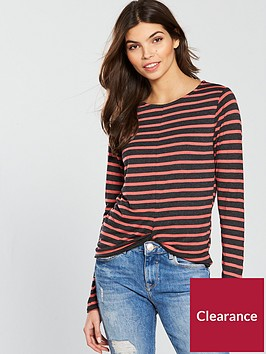 v-by-very-knot-front-jersey-top