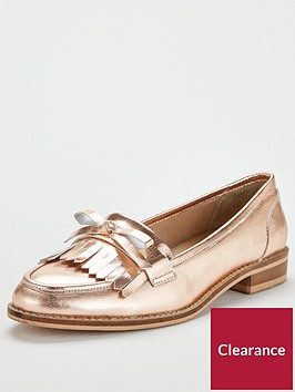 v-by-very-madras-flat-leather-loafer