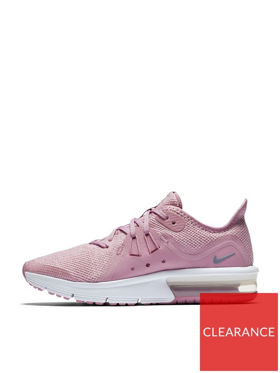 9cb6610b337e9 Nike Air Max Sequent 3 Junior Trainers - Pink Grey