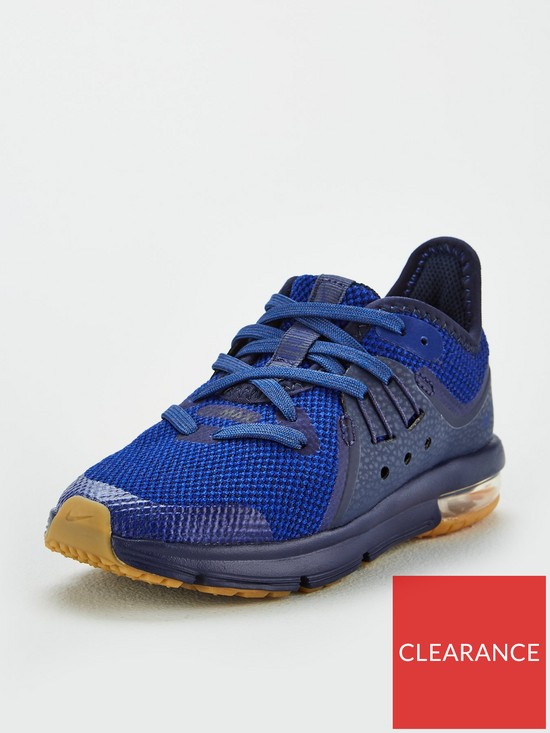 600a35b73a8 Nike Air Max Sequent 3 Childrens Trainers - Navy Blue