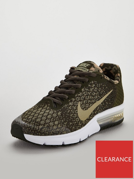 Nike Air Max Sequent 2 Junior Trainers - Khaki  948c4544c