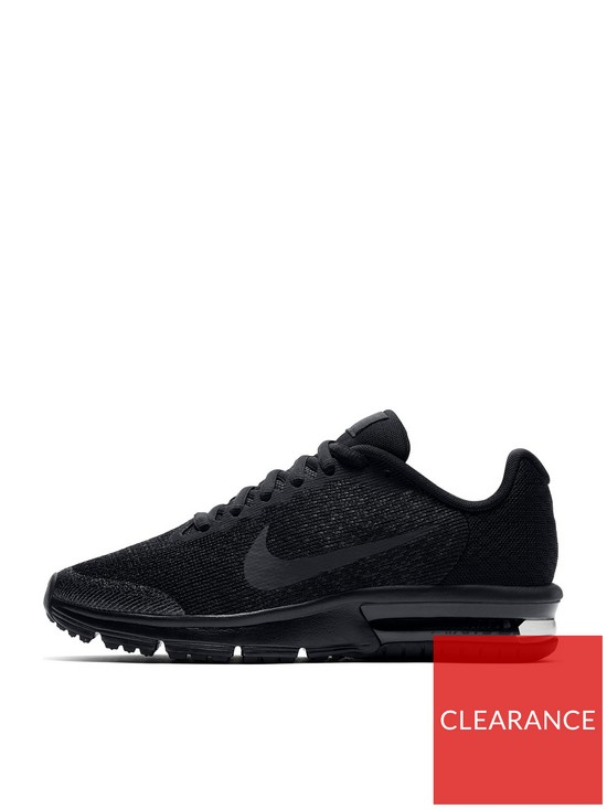 finest selection 2f842 12eee Nike Air Max Sequent 2 Junior Trainers - Black | very.co.uk