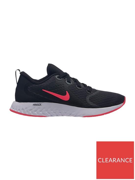 e0cd9dada6c6 Nike Legend React Junior Trainers - Black Red