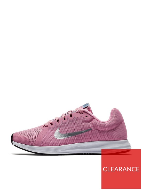 quality design a965c 4d6ee Nike Downshifter 8 Junior Trainers - Pink Silver