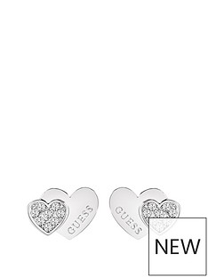 guess-rhodium-plated-crystal-set-heart-ladies-earrings