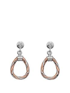 hot-diamonds-sterling-silver-and-rose-gold-plated-accents-breeze-teardrop-earrings