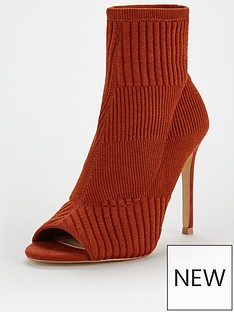 v-by-very-finchley-knitted-peep-toe-shoebootnbsp--tan