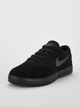 nike-sb-check-suede-childrens-trainers-black