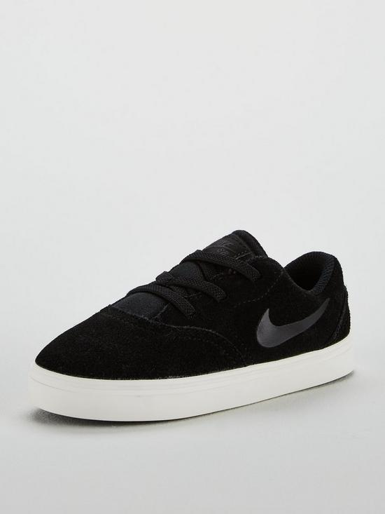 Nike SB Check Suede Infant Trainers - Black White  fce355177