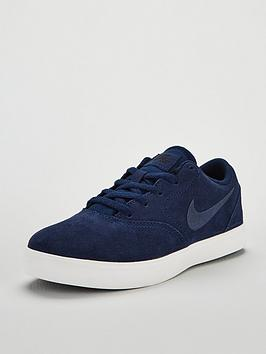 nike-sb-check-suede-childrens-trainers-navy