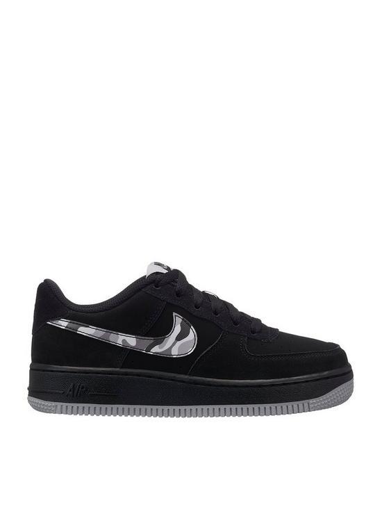 lowest price 3f585 54114 Nike Junior Air Force 1 Trainer - BlackGreyWhite