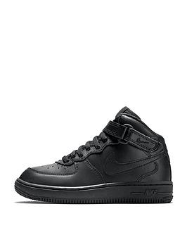 nike-force-1-mid-childrens-trainers-black