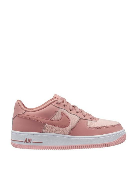 new style 0b860 2c99f Nike Air Force 1 LV8 Junior Trainers - Pink