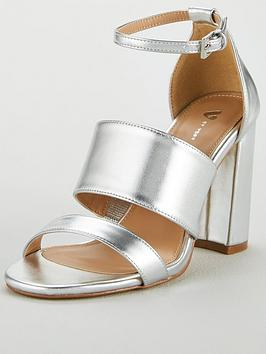 v-by-very-bess-high-block-heel-3-strap-sandal-silver
