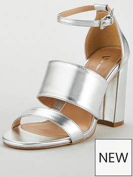 v-by-very-bess-high-block-heel-3-strap-sandal-silver