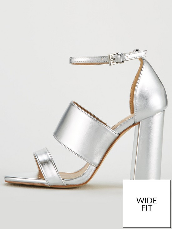 511f46f7aee ... Heel 3 Strap Sandal - Silver. 3 people are looking at this right now.