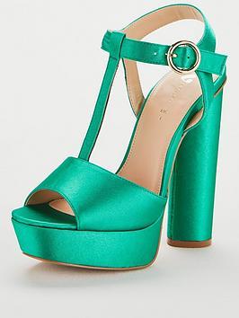 V By Very Bulgaria T-Bar High Platform Sandal