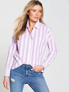maison-scotch-relaxed-fit-drop-shoulder-stripe-shirt-print